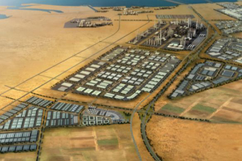 Conceptual master plan of Khalifa Port and Industrial Zone developed