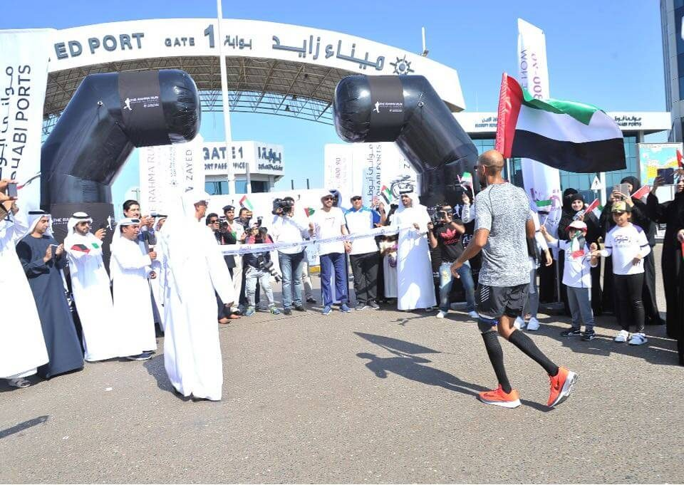 Dr. Khaled Al-Suwaidi becomes the first Emirati to run a 327 kilometer ultramarathon from Fujairah Port to Zayed Port in support of cancer patients
