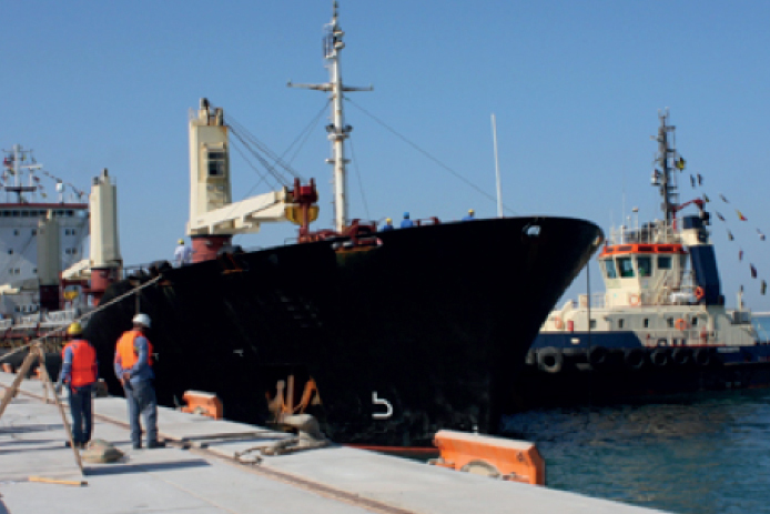 Arrival of the first ship to the state-of-the-art Khalifa Port celebrated with EMAL