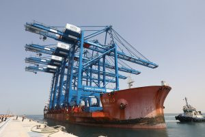 Khalifa Port Receives First ARMG and STS cranes for COSCO SHIPPING