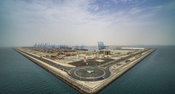 Khalifa Port aerial view